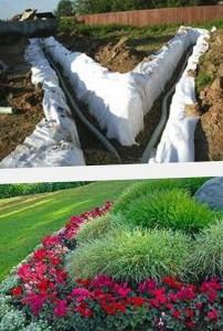 как осушить огород