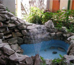 фонтан в саду своими руками