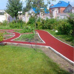 резина для садовых дорожек