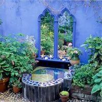 зеркала в оформлении сада