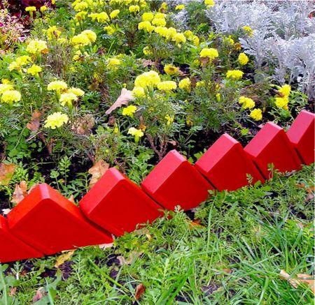 Декоративный забор для клумб своими руками