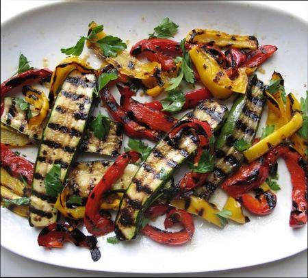 блюда из овощей на гриле