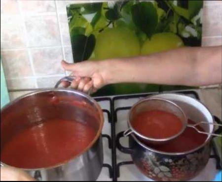 приготовление сока томата